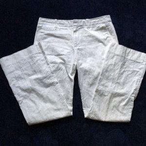 Linen blend wide legged pants